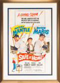 """Baseball Collectibles:Others, 1962 """"Safe at Home"""" Movie Poster Signed by Mickey Mantle. ..."""