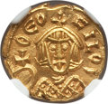 Ancients:Byzantine, Ancients: Theophilus (AD 829-842). AV semissis (1.79 gm). NGCChoice AU 5/5 - 4/5....