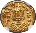 Ancients:Byzantine, Ancients: Theophilus (AD 829-842). AV solidus (3.85 gm). NGC AU 5/5- 5/5....