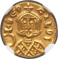 Ancients:Byzantine, Ancients: Theophilus (AD 829-842). AV semissis (1.74 gm). NGCChoice AU 5/5 - 4/5....
