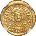 Ancients:Byzantine, Ancients: Anastasius I (AD 491-518). AV solidus (4.47 gm). NGC MS5/5 - 3/5, scratched....
