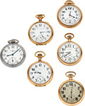 Timepieces:Pocket (post 1900), Six American High Jeweled Runners. ... (Total: 6 Items)