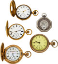 Timepieces:Pocket (post 1900), Two 18k gold, One 14k Gold, Two Gold Filled. ... (Total: 5 Items)