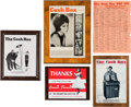 Music Memorabilia:Awards, A Connie Francis Group of Items Related to 'Cash Box' Magazine,1950s-1960s.... (Total: 5 Items)