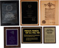 Music Memorabilia:Awards, A Connie Francis Group of Awards, 1970s-2000s.... (Total: 6 Items)