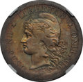 Argentina, Argentina: Republic silver Pattern Peso 1880 AU Details (SurfaceHairlines) NGC,...