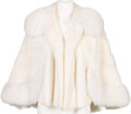 Music Memorabilia:Costumes, A Connie Francis White Fox and Mink Cape, 1960s....
