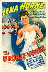 "The Bronze Venus (Toddy Pictures, R-1943). One Sheet (27"" X 41"") Original Title: The Duke is Tops"