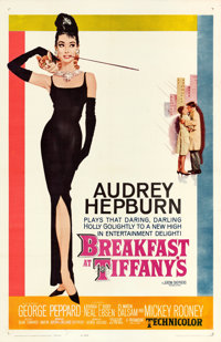 "Breakfast at Tiffany's (Paramount, 1961). One Sheet (27"" X 41"") Robert McGinnis Artwork"