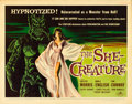 "Movie Posters:Science Fiction, The She-Creature (American International, 1956). Half Sheet (22"" X28"") Albert Kallis Artwork.. ..."