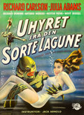 "Movie Posters:Horror, Creature from the Black Lagoon (Universal International, 1955).Danish Poster (24"" X 33"").. ..."