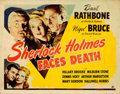 Movie Posters:Mystery, Sherlock Holmes Faces Death (Universal, 1943). Hal...