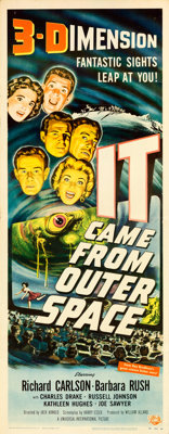"""It Came from Outer Space (Universal International, 1953). Insert (14"""" X 36"""") 3-D Style, Joseph Smith Artwork..."""
