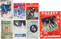 Hockey Collectibles:Publications, 1930's-76 Hockey Publications Lot of 7 from the Clint SmithCollection....