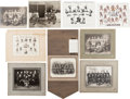 Hockey Collectibles:Photos, 1926-40's Original Hockey Team Photographs and Supplements Lot of8....