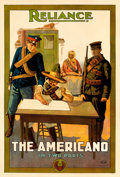 "Movie Posters:Adventure, The Americano (Reliance, 1915). One Sheet (27"" X 41"").. ..."