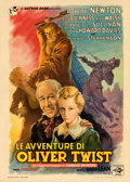 "Movie Posters:Drama, Oliver Twist (Eagle Lion, 1948). Italian 2 - Fogli (39.5"" X 55""). Anselmo Ballester Artwork.. ..."