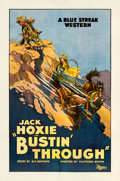 "Movie Posters:Western, Bustin' Through (Universal, 1925). One Sheet (27"" X 41"").. ..."