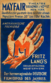 "M (Foremco, 1933). German Language U.S. Premiere Window Card (14"" X 22.5"")"