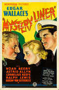 "Movie Posters:Mystery, Mystery Liner (Monogram, 1934). One Sheet (27"" X 41"").. ..."
