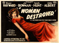 "Movie Posters:Drama, Smash-Up: The Story of a Woman (Universal International, 1947) AKAA Woman Destroyed. British Quad (29.5"" X 39.5..."