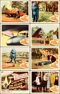 "Earth vs. the Flying Saucers (Columbia, 1956). Lobby Card Set of 8 (11"" X 14""). ... (Total: 8 Items)"