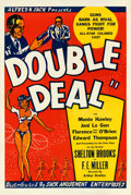 "Movie Posters:Crime, Double Deal (Sack Amusement, 1939). One Sheet (27"" X 41"").. ..."