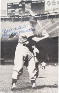 Baseball Collectibles:Others, 1953 Mickey Mantle Signed Postcard, PSA/DNA 9. ...