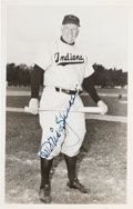 Baseball Collectibles:Others, 1954 Tris Speaker Signed Postcard. ...