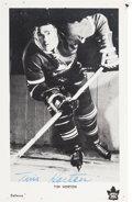 Hockey Collectibles:Others, Circa 1960 Tim Horton Signed Postcard. ...