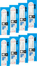 Hockey Collectibles:Others, 1980 Winter Olympics USA Hockey Team Full Tickets Lot of 8. ...