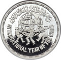 """Egypt, Egypt: Egypt. Republic silver """"Year of the Child"""" Proof Piefort 5Pounds AH 1401 (1981) PR67 Ultra Cameo NGC,..."""