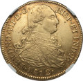 Colombia, Colombia: Ferdinand VII gold 8 Escudos 1812 P-JF AU55 NGC,...