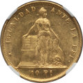 Chile, Chile: Republic gold 10 Pesos 1859-So MS62+ NGC,...