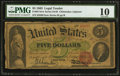 Large Size:Legal Tender Notes, Fr. 63 $5 1863 Legal Tender PMG Very Good 10.. ...