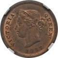 Cyprus:British Colony, Cyprus: British Colony. Victoria 1/4 Piastre 1887 MS64 Red and Brown NGC,...