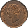 Cyprus:British Colony, Cyprus: British Colony. Victoria 1/2 Piastre 1887 MS63 Red and Brown NGC,...
