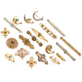 Estate Jewelry:Brooches - Pins, Diamond, Multi-Stone, Seed Pearl, Gold, Yellow Metal Brooches . ...(Total: 20 Items)