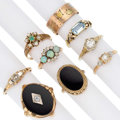 Estate Jewelry:Rings, Diamond, Multi-Stone, Gold Rings. ... (Total: 9 Items)