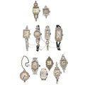 Estate Jewelry:Watches, Swiss Lady's Diamond, Platinum, White Gold Watches for Parts. ...(Total: 12 Items)