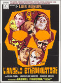 """Movie Posters:Foreign, The Exterminating Angel (P.A.C., 1968). Original Release Silk-Screen Italian 4 - Fogli (55.25"""" X 75""""). Foreign.. ..."""