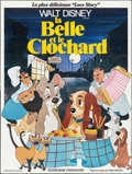 "Movie Posters:Animation, Lady and the Tramp (Walt Disney Productions, R-1970s). French FourPanel (91"" X 121""). Animation.. ..."
