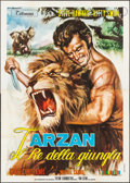 "Movie Posters:Adventure, King of the Jungle & Other Lot (Titanus, 1969). Italian 4 -Fogli (55"" X 77"") & Italian Locandina (13"" X 27""). Adventure.Al... (Total: 2 Items)"