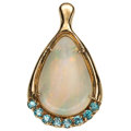 Estate Jewelry:Pendants and Lockets, Multi-Stone, Gold Enhancer-Pendant . ...