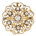 Estate Jewelry:Brooches - Pins, Victorian Diamond, Gold Pendant-Brooch. ...