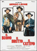 """Movie Posters:Western, The Good, the Bad and the Ugly (Titanus, R-1972). Italian 2 - Fogli (39.25"""" X 55.25""""). Western.. ..."""