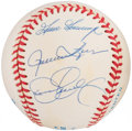 "Autographs:Baseballs, Baseball Greats ""Relief Pitchers"" Multi-Signed Baseball - Gossage,Fingers & Eckersley...."