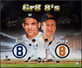 Autographs:Photos, Yogi Berra & Cal Ripken Jr. Signed and Inscribed OversizedPhotograph. ...
