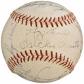 Autographs:Baseballs, 1962 New York Yankees Team Signed Baseball (21 Signatures)....