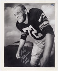 "Football Collectibles:Photos, Ray Nitschke ""First Day as a Pro"" Signed Photograph - Numbered 63/72. ..."